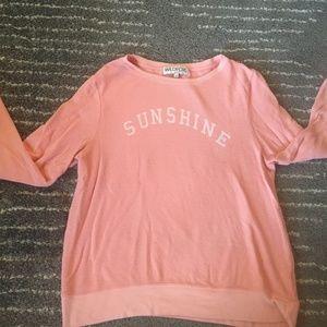"""Peach """"sunshine"""" wildfox baggy jumper e"""